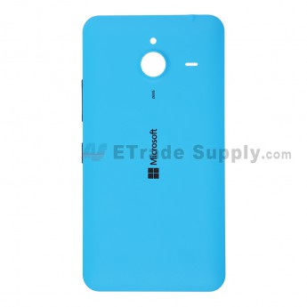 For Microsoft Lumia 640 XL LTE Dual SIM Battery Door  Replacement - Blue - With Logo - Grade S+