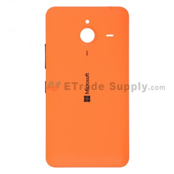 For Microsoft Lumia 640 XL LTE Dual SIM Battery Door  Replacement - Orange - With Logo - Grade S+