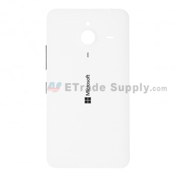 For Microsoft Lumia 640 XL LTE Dual SIM Battery Door  Replacement - White - With Logo - Grade S+