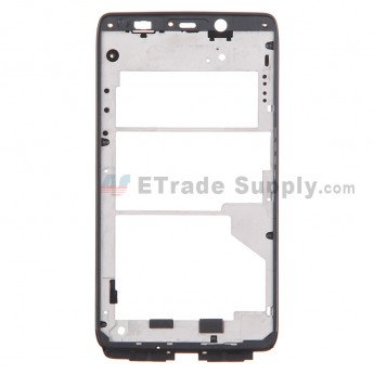 For Motorola Droid MAXX XT1080M Front Housing Replacement - Black - Grade S+