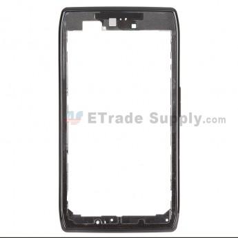 For Motorola Droid Razr XT912/XT910 Front Housing Replacement - Black - Grade A