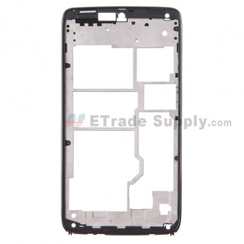 For Motorola Droid Turbo XT1254 Front Housing Replacement - Black - Grade S+