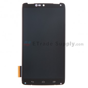 For Motorola Droid Turbo XT1254 LCD Screen and Digitizer Assembly Replacement - Black - Grade R