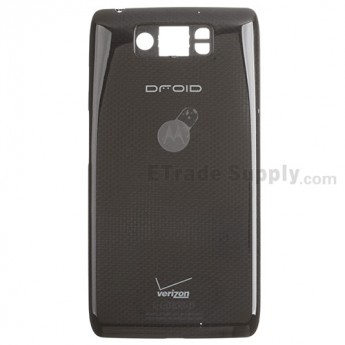 For Motorola Droid Ultra XT1080 Battery Door Replacement (Thin) - Black - With Logo - Grade S+