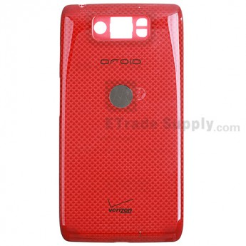 For Motorola Droid Ultra XT1080 Battery Door Replacement (Thin) - Red - With Logo - Grade S+