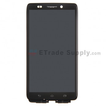 For Motorola Droid Ultra XT1080 Black LCD Screen and Digitizer Assembly with Front Housing Replacement - Black Frame - Without Any Logo - Grade R