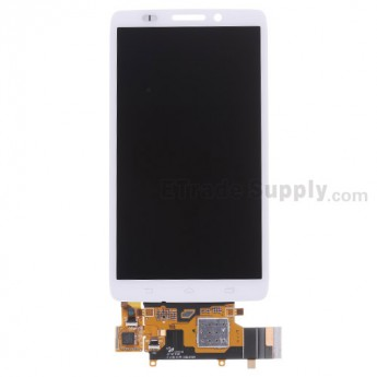 For Motorola Droid Ultra XT1080 LCD Screen and Digitizer Assembly  Replacement - White - Without Any Logo - Grade S+