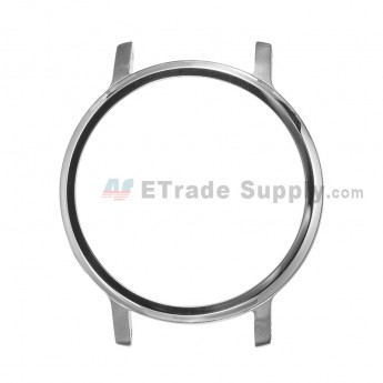 For Motorola Moto 360 (2nd Gen.) Front Housing and Rear Housing Replacement (42mm) - Silver - Grade S+