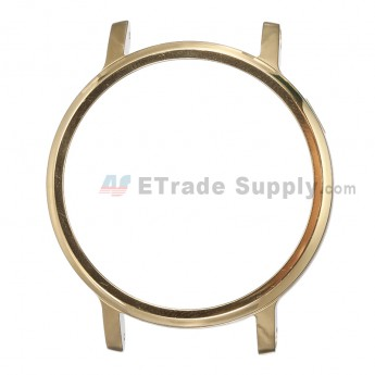 For MT Moto 360 (2nd Gen.) Front Housing and Rear Housing Replacement (46mm) - Gold - Grade S+
