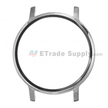 For MT Moto 360 (2nd Gen.) Front Housing and Rear Housing Replacement (46mm) - Silver - Grade S+