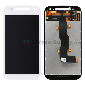 For Motorola Moto E (2nd Gen.) XT1511, XT1527 LCD Screen and Digitizer Assembly Replacement - White - Without Any Logo - Grade S+