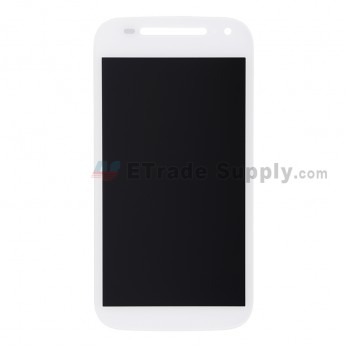 For Motorola Moto E (2nd Gen.) XT1505 LCD Screen and Digitizer Assembly Replacement - White - Without Any Logo - Grade S+