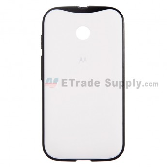 For Motorola Moto E XT1021 Protective Case - White - With Logo - Grade S+