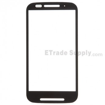 For Motorola Moto E XT1022 Glass Lens Replacement - Black - Without Any Logo - Grade R