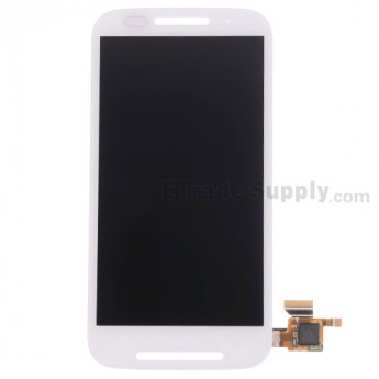 For Motorola Moto E XT1022 LCD Screen and Digitizer Assembly Replacement - White - Without Any Logo - Grade S+