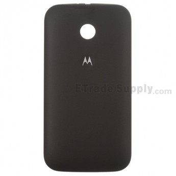 For Motorola Moto E XT1022, XT1025 Battery Door Replacement - Black - With Logo - Grade S+