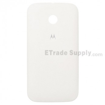 For Motorola Moto E XT1022, XT1025 Battery Door Replacement - White - With Logo - Grade S+