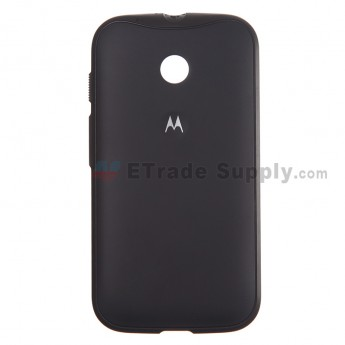 For Motorola Moto E XT1022, XT1025 Protective Case - Black - With Logo - Grade S+