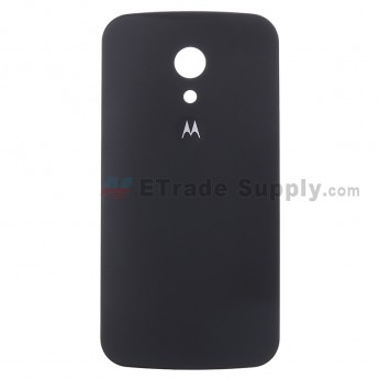 For Motorola Moto G2 Battery Door Replacement - Black - With Logo - Grade S+
