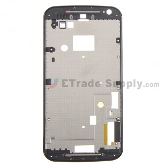 For Motorola Moto G2 Front Housing Replacement - Black - Grade S+