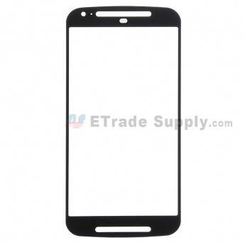 For Motorola Moto G2 Glass Lens Replacement - Black - Without Any Logo - Grade R