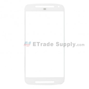 For Motorola Moto G2 Glass Lens Replacement - White - Without Logo - Grade R