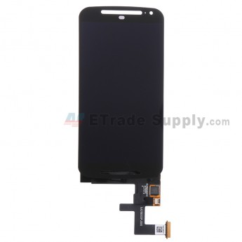 For Motorola Moto G2 LCD Screen and Digitizer Assembly Replacement - Black - Without Any Logo - Grade S+