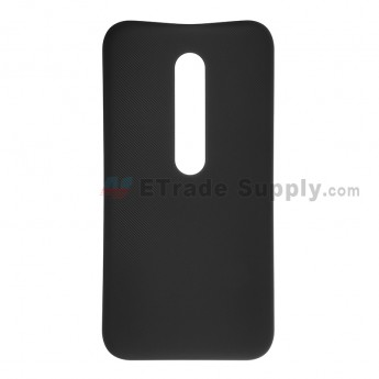 For Motorola Moto G3 Battery Door  Replacement - Black - Without Logo - Grade S+