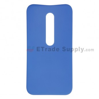 For Motorola Moto G3 Battery Door  Replacement - Blue - Without Logo - Grade S+