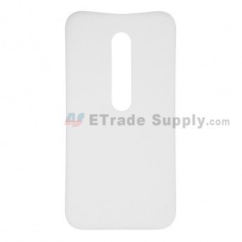 For Motorola Moto G3 Battery Door  Replacement - White - Without Logo - Grade S+