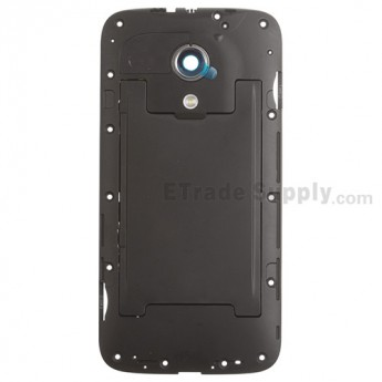 For MT Moto G XT1033 Rear Housing Replacement (Dual SIM Card Slot) - Black - Grade S+