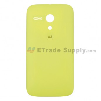 For Motorola Moto G XT1032 Frosted Battery Door Replacement - Yellow - With Logo - Grade S+