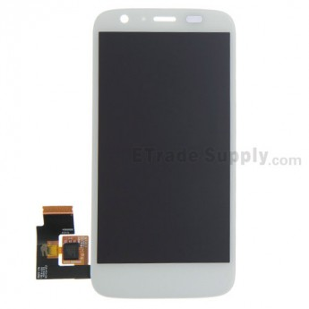 For Motorola Moto G XT1033 LCD Screen and Digitizer Assembly Replacement - White - Without Any Logo - Grade S+