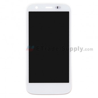 For Motorola Moto G XT1033 LCD Screen and Digitizer Assembly with Front Housing Replacement - White - Without Any Logo - Grade S+