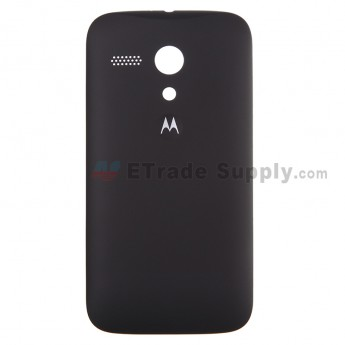 For Motorola Moto G XT1032, XT1033 Frosted Battery Door Replacement - Black - With Logo - Grade S+