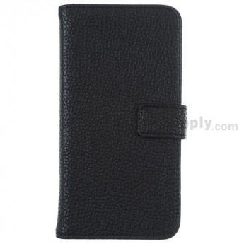 For Motorola Moto G XT1032, XT1033 Lichee Pattern Leather Case - Black - Grade R