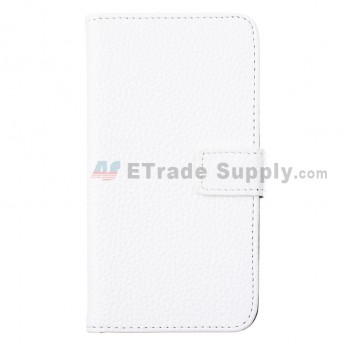 For Motorola Moto G XT1032, XT1033 Lichee Pattern Leather Case - White - Grade R