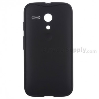 For Motorola Moto G XT1032, XT1033 Protective Case - Black - With Logo - Grade S+
