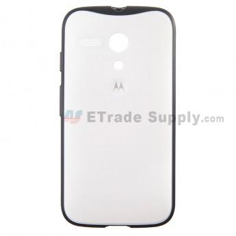 For Motorola Moto G XT1032, XT1033 Protective Case - White - With Logo - Grade S+