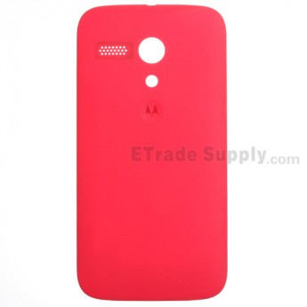 For Motorola Moto G XT1033 Frosted Battery Door Replacement - Red - With Logo - Grade S+
