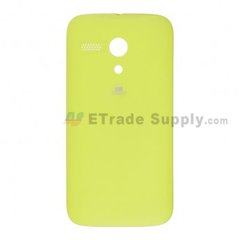 For Motorola Moto G XT1033 Frosted Battery Door Replacement - Yellow - With Logo - Grade S+