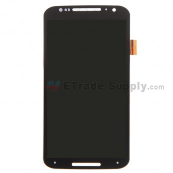 For Motorola Moto X (2nd Gen.) XT1092 LCD Screen and Digitizer Assembly  Replacement - Black - Without Logo - Grade S+