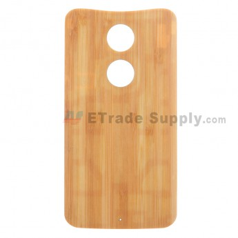 For MT Moto X (2nd Gen.) XT1096 Bamboo Battery Door Replacement - Without Any Logo - Grade S+