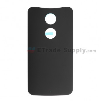 For Motorola Moto X (2nd Gen.) XT1095, XT1097 Battery Door Replacement - Black - Without Any Logo - Grade S+