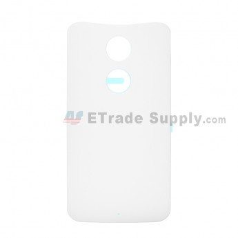 For Motorola Moto X (2nd Gen.) XT1095, XT1097 Battery Door Replacement - White - Without Any Logo - Grade S+