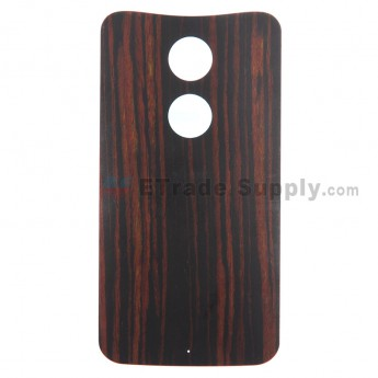 For MT Moto X (2nd Gen.) XT1096 Ebony Finish Battery Door Replacement - Without Any Logo - Grade S+