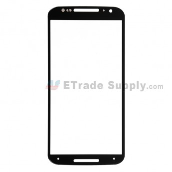 For Motorola Moto X (2nd Gen.) XT1095, XT1097 Glass Lens Replacement - Black - Without Any Logo - Grade R