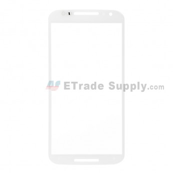 For Motorola Moto X (2nd Gen.) XT1095, XT1097 Glass Lens Replacement - White - Without Any Logo - Grade R