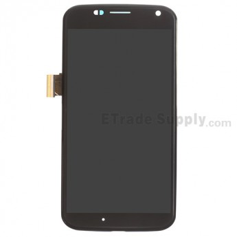 For Motorola Moto X XT1058 LCD Screen and Digitizer Assembly with Front Housing Replacement - Black - Without Any Logo - Grade S+