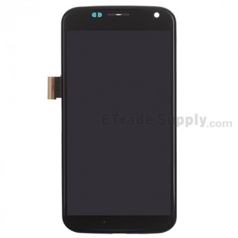 For Motorola Moto X XT1058 LCD Screen and Digitizer Assembly with Middle Frame Replacement - Black - Without Any Logo - Grade S+